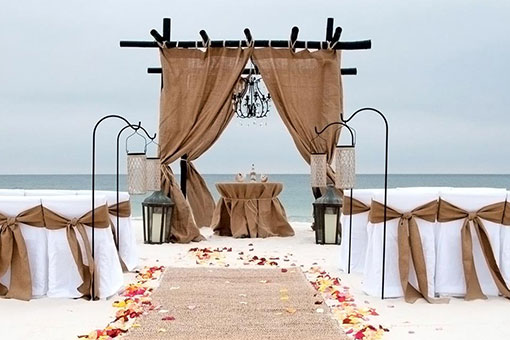 Orange Beach Gulf Shores Burlap and Iron Wedding Package