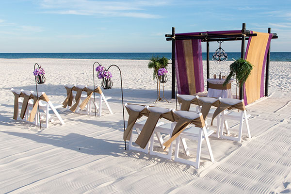 Gulf Shores Beach Wedding Package Rustic Sands