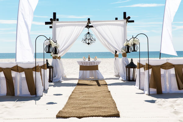 Beach breeze wedding
