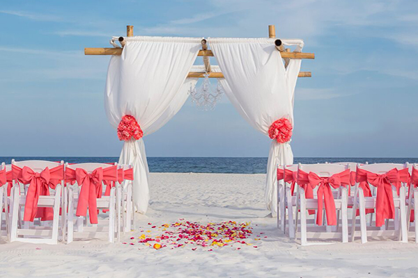 Princess Beach Wedding Package Orange Beach Alabama